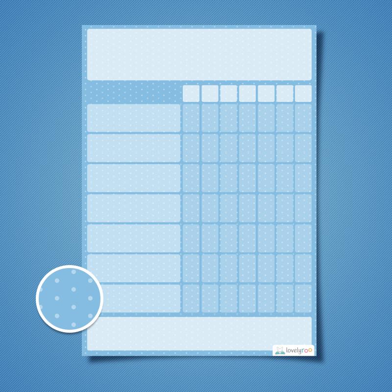 Kids Reward Chart Template Printable Reward Chart Polka Dots Design Single Reward Lovelyroo