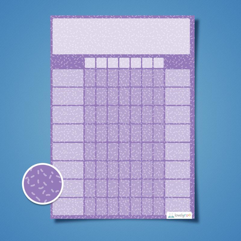 Kids reward chart template - Printable reward chart - Sprinkles design,  multi reward